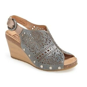 Pikolinos Benissa Laser Cutout Wedge Shoes EU 38